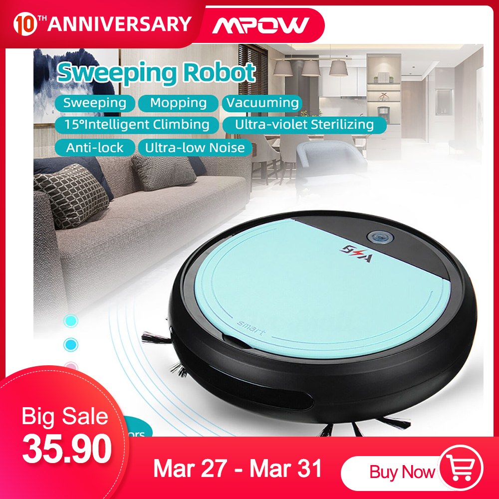 7-in-1 Smart Rechargeable Auto Sweeping Robot Vacuum Cleaner 3200PA Strong Suction USB Charging Cordless Cleaning Robot Sweeper