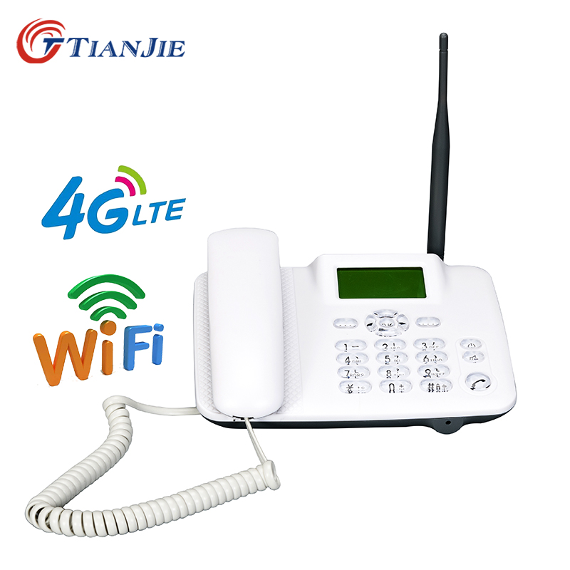 TIANJIE W101L 4G Wifi Router GSM Telephone Volte 4g Landline Wifi Hot Spot Desk Telephone Fixed Phone With Sim Slot