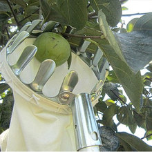 Серебряный фруктовый сборщик, сборщик фруктов, металлическое устройство, оборудование, фермерский двор Подрезка растений в садоводстве ручные приборы без полюса