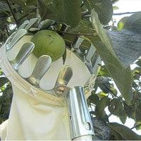 Picador de frutas de prata coletor de frutas metal dispositivo ferragem fazenda quintal jardinagem ferramentas poda ferramenta mão sem pólo