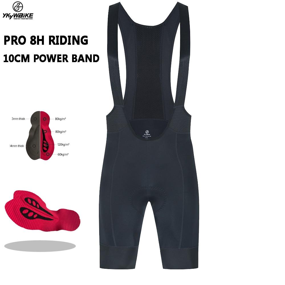 YKYWBIKE 2021 Cycling Bib Shorts Summer 8 Hour Ride Pad Bike Tights MTB Ropa Ciclismo Moisture Wicking Bicycle Pants