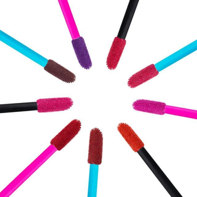 150 Pcs Disposable Lip Brush Makeup Brushes Pen Lipstick Mascara Wands Brush Cleaning Eyelash Cosmetic Brush Applicators 2