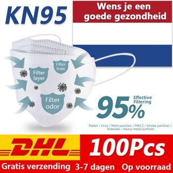 100pcs Disposable mondkapjes virus N95 mondkapjes mask Filter ffp2 mondkap Anti Pollution Gasket Anti Anti Flu Antiviral masker