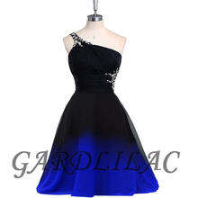 Gardlilac 2020 черное красное платье с лямкой на шее Омбре для