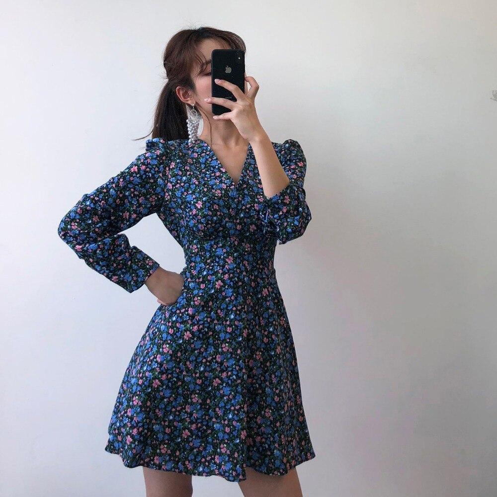 H0a6214ae5fd84d8484ec04bc62135251v - Autumn V-Neck Long Sleeves Floral Print Mini Dress