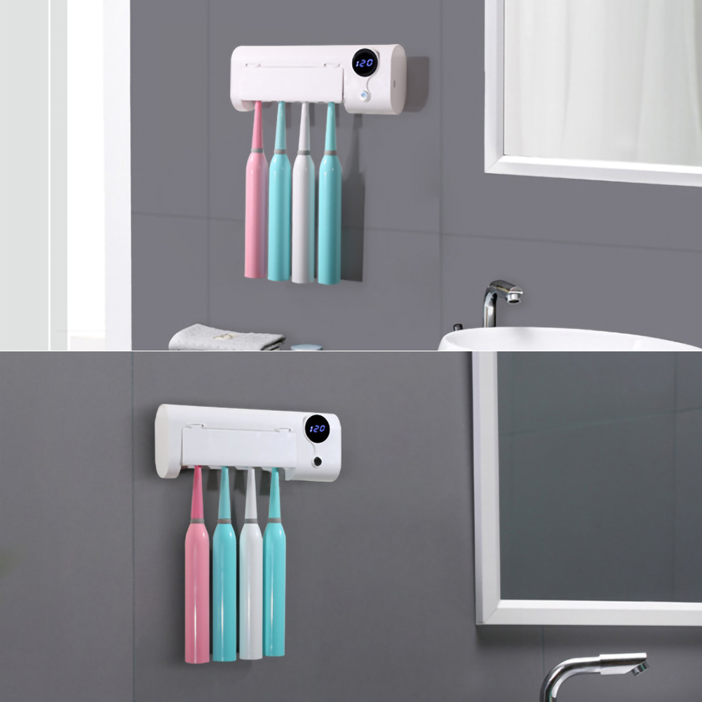 Electric Toothbrush UV Sterilizer Antibacterial Light Toothbrush Holder  Wall Hanging Home Decor Bathroom Accessories Gift