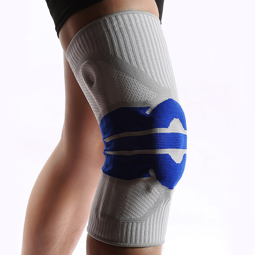 Gifftiy Knee Pads-5Xl Plus Size Basketball Support Silicon Padded Knee Pads Support Brace Patella Protector Protection Kneepad For Fat Person