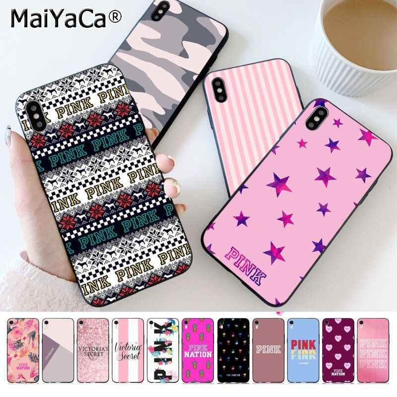 MaiYaCa ROSA NEW PINK LOVE black Phone Case Capa Shell para Apple iphone 11 pro 8 7 66S Plus X XS MAX 5S SE Casos XR