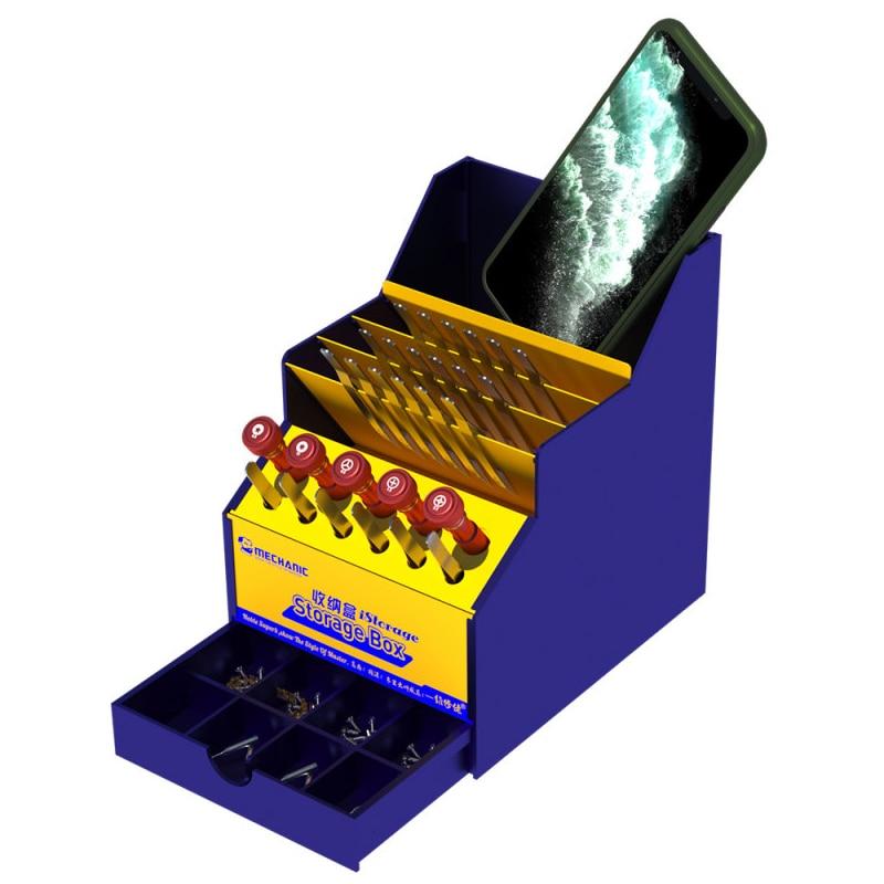 Multi-function Mobile Phone Repair Tools Box PVC Storage Box Screwdrivers Tweezers Component Container Cellphone Repair Tool