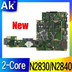 Nowy! AK X553MA laptopa płyta główna do asusa X553MA X553M A553MA D553M F553MA K553M Test oryginalne płyty głównej płyta główna N2830/N2840 2 Core CPU w Płyty główne od Komputer i biuro na