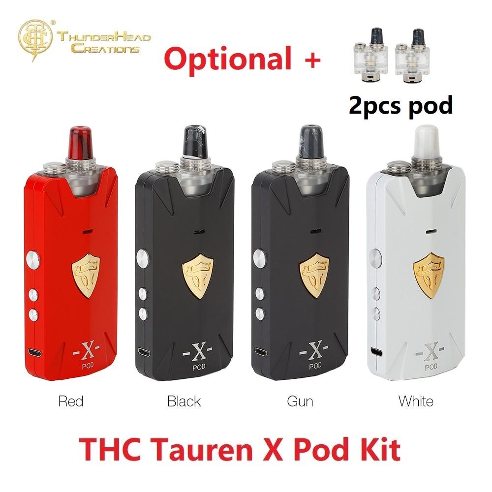 Original THC Tauren X Pod Kit 1000mAh Battery & RBA Pod System / Mesh Version & 0.42 Inch OLED Screen Ecig Vape Kit VS Vinci Mod