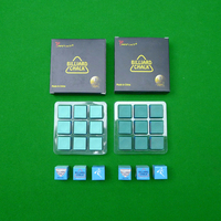 9pcs 2 colors Pool Cue Chalk Cue Tip Cue Snooker Stick Billiard Accessories Billiard Game