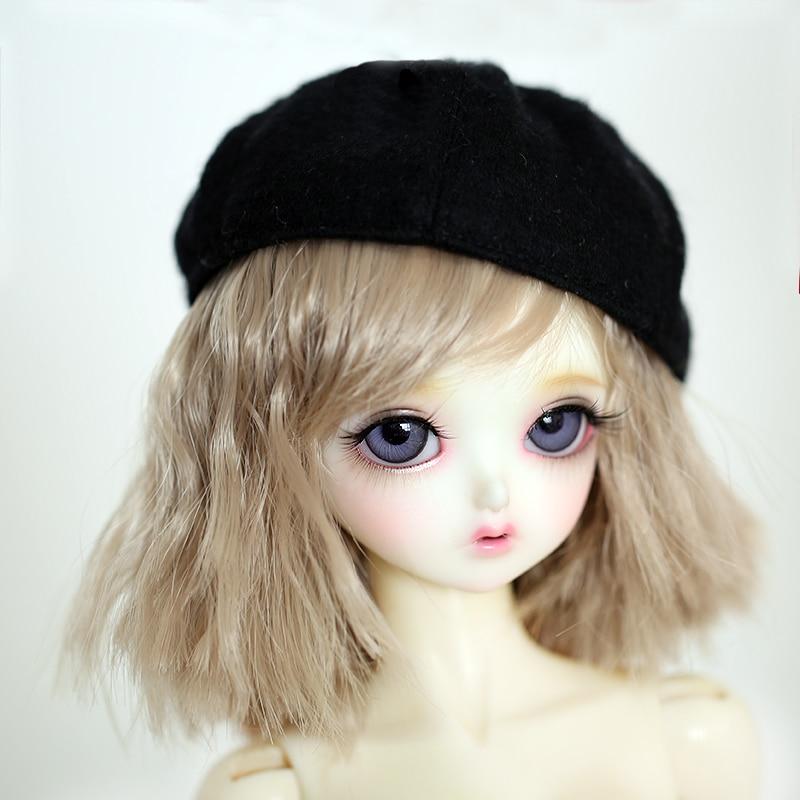 M0194 Children Handmade Toy 1/6 1/4 1/3 Doll Wig BJD/SD Doll Props Accessories High Temperature Wire Short Hair Corn Roll 1pcs