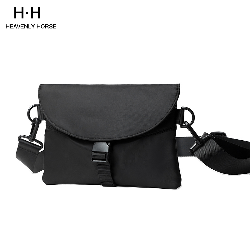 Causal Men Messenger Bag Splashproof Oxford Mini IPad Male Crossbody Bags Black  Messenger Bag Shoulder