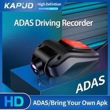 Kapud-Detector de cámara Dvr ADAS para coche, grabadora de conducción telescópica para Android, USB, 170 grados, portátil, 1080P, VERSIÓN NOCTURNA