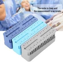 Mini bloc de mesure endodontique en plastique, outils buccaux, endodontique Autoclavable, règle d'instrument de dentiste bleu 9x2.7x3.3cm