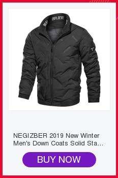 H0a6297d4ff2f4e8ea6075d105fb252bc2 NEGIZBER 2019 Autumn Winter New Men's Jacket Slim Fit Stand Collar Zipper Jacket Men Solid Cotton Thick Warm Jacket Men