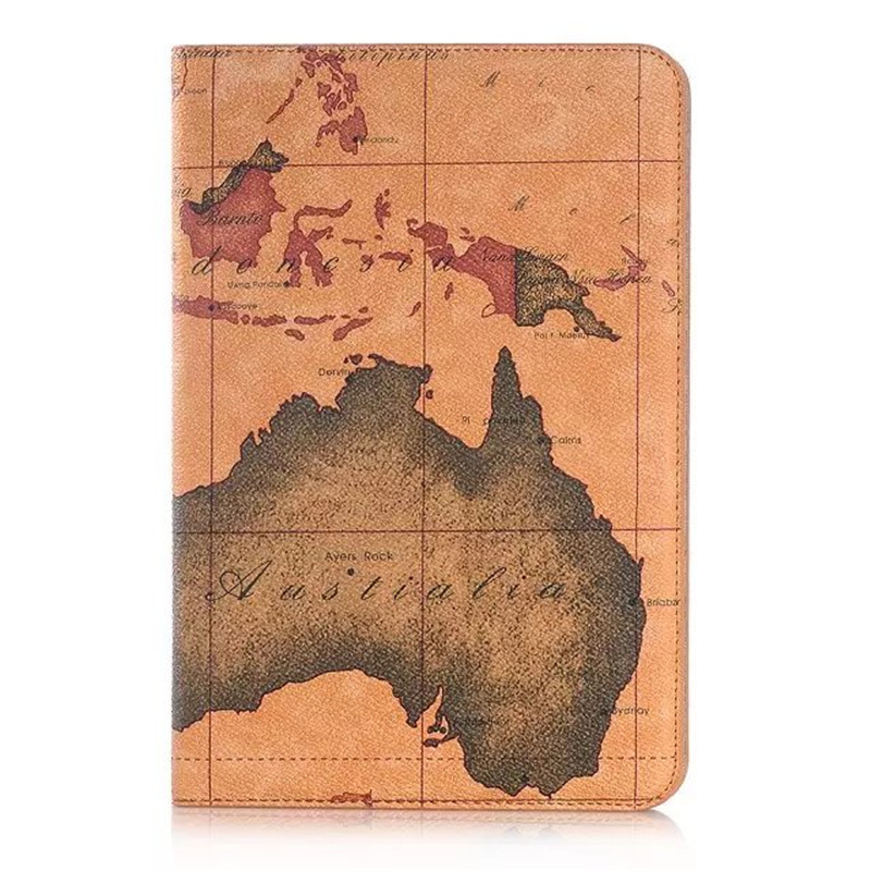 World Map Case For Samsung Galaxy Tab A 8.0 Inch 2015 SM-T350 T355 SM-T355 Cover Funda Smart Tablet Flip Stand Shell For P355