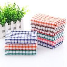 Absorvente de água algodão jacquard xadrez toalha de cozinha toalha de chá toalha de cozinha prato toalhas cozinha ferramentas de limpeza frete grátis
