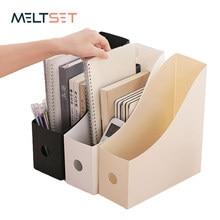 Office Document File Storage Box Folding Desktop Organizer Multi-functional Books Pencil Sundries Storage Box Office Supplies