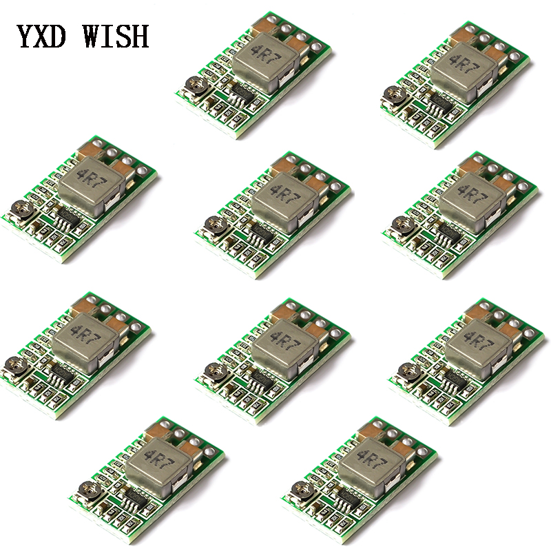 5Pcs Mini DC-DC 9V//12V//19V To 5V 3A Buck Car Charging Step Down Power Supply