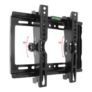 Image 5 - 25KG 14 42 Zoll Einstellbare Stahl TV Wand Halterung Flache Panel TV Rahmen Unterstützung 15 Grad Tilt winkel für TV LCD LED Monitor