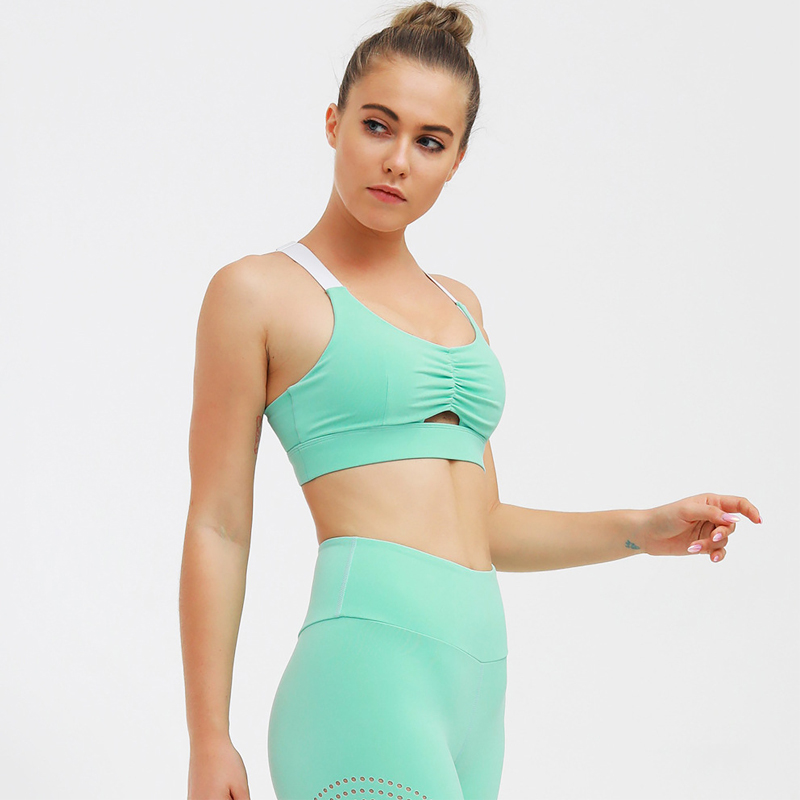 Women's Yoga Set 2 Pcs Fitness Clothes for Women Gym Running Suit Sexy Bra + Hollow Legging Pants High Waist Sportwear Slimming