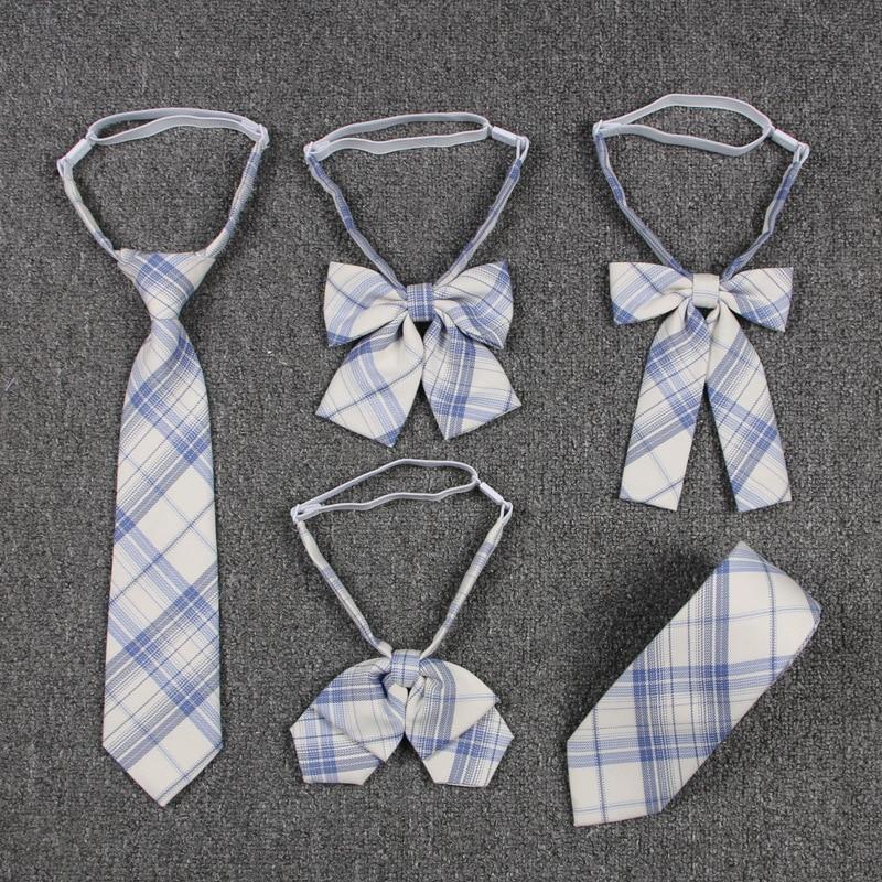 2020 Jk Uniform Lattice Bow Tie Cute Japanese/korean School Uniform Accessories Bow Tie Design Knot Cravat Necktie Adjustable