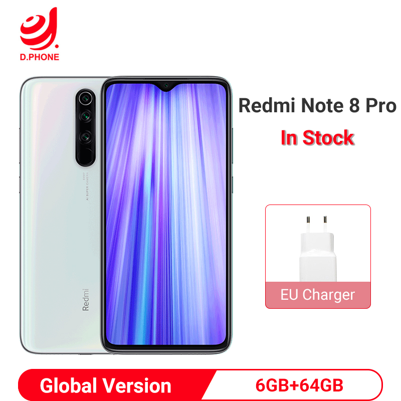 Xiaomi Redmi Note 8 Pro Global Version 6GB 64GB Smartphone 64MP Quad Camera Helio G90T Octa Core 4500mAh NFC Mobile Phone