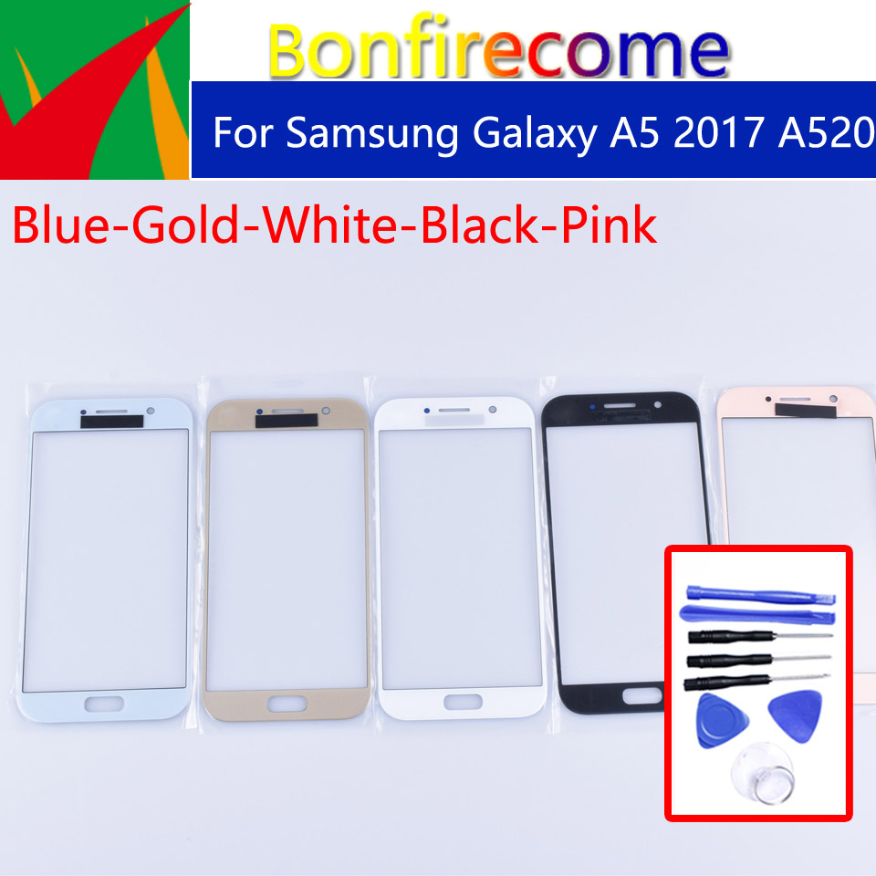 A520 For Samsung Galaxy A5 2017 A520 A520F SM-A520F SM-A520F/DS Touch Screen Front Outer Glass TouchScreen Lens Replacement 5.2