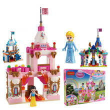 Princess castle building blocks boy girl plastic toy princess, my world, holy beast series assembling with legoing