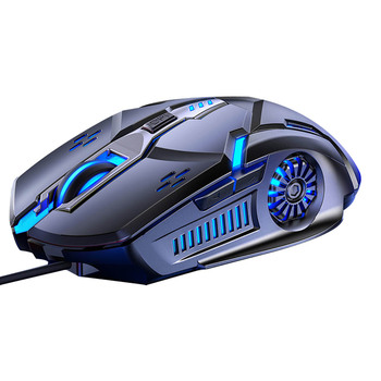 Gaming Mouse Wired Mouse 6D RGB Gaming Mouse Adjustable Wired Optical LED Computer Mice USB Cable Silent Mouse image