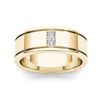 14K Yellow Gold FL Diamond Ring for Men Women Classic Anillos De Bizuteria 14K Gold Wedding Fine Jewelry Ring for Male Gemstone