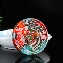 Natural Color Jade Dragon Pendant Necklace Chinese Hand-Carved Charm Jewelry Fashion Accessories Amulet for Men Women Luck Gifts buddha jade pendant unisex 2018 new top quality fo jade for men women pendants jewelry fine necklaces good luck gift