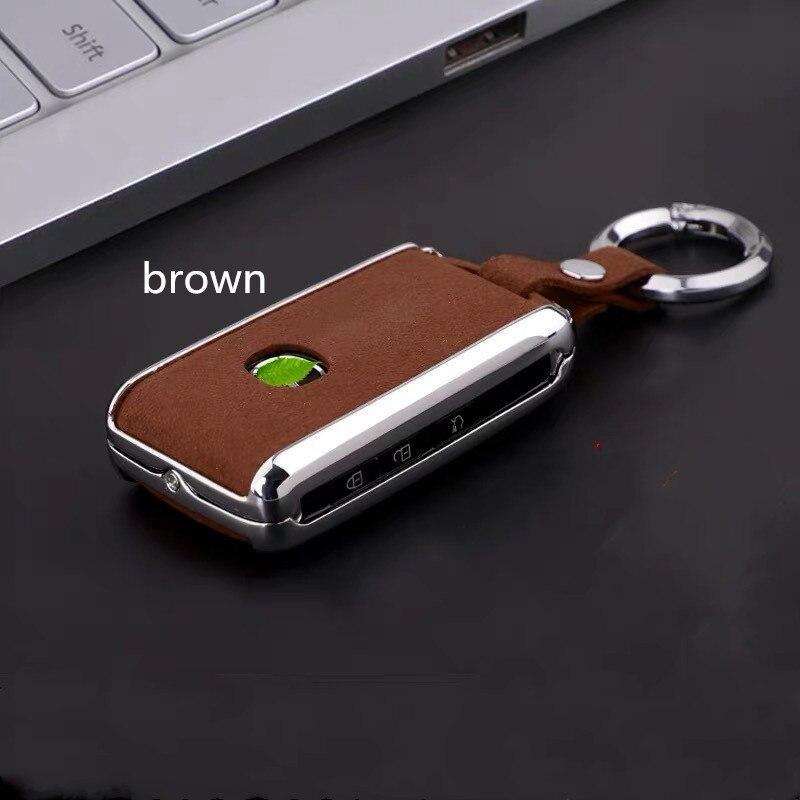 Car Key Cover Galvanized Alloy For Mazda 3 2020 Leather Key Case For Mazda 3 2020 2019 Accesorios Alexa 3 Key Protection Holder