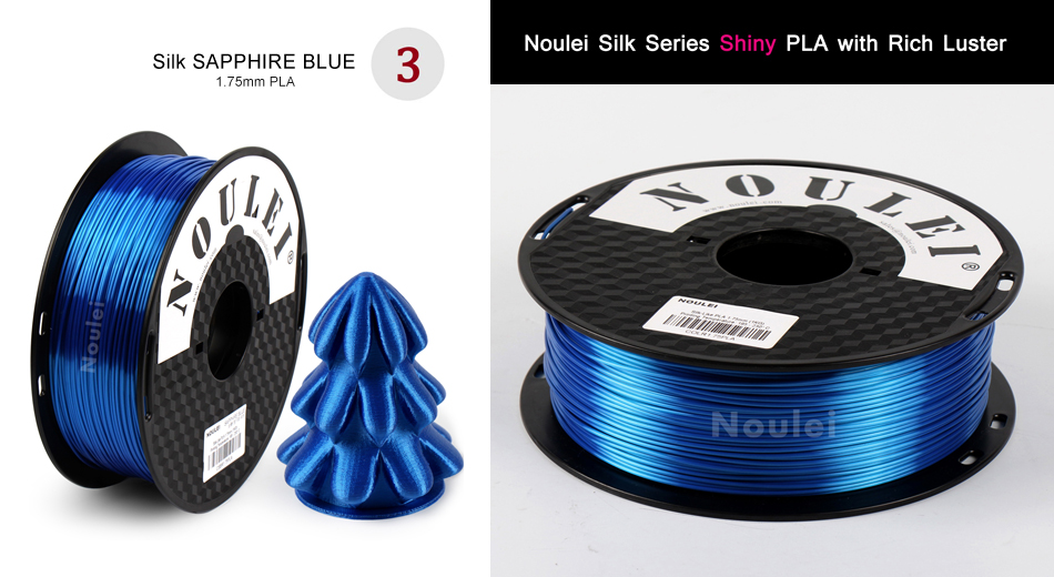 Noulei 1KG/Roll Silky Rich Luster 3D Printer Filament/Printing Material for 3D Printer