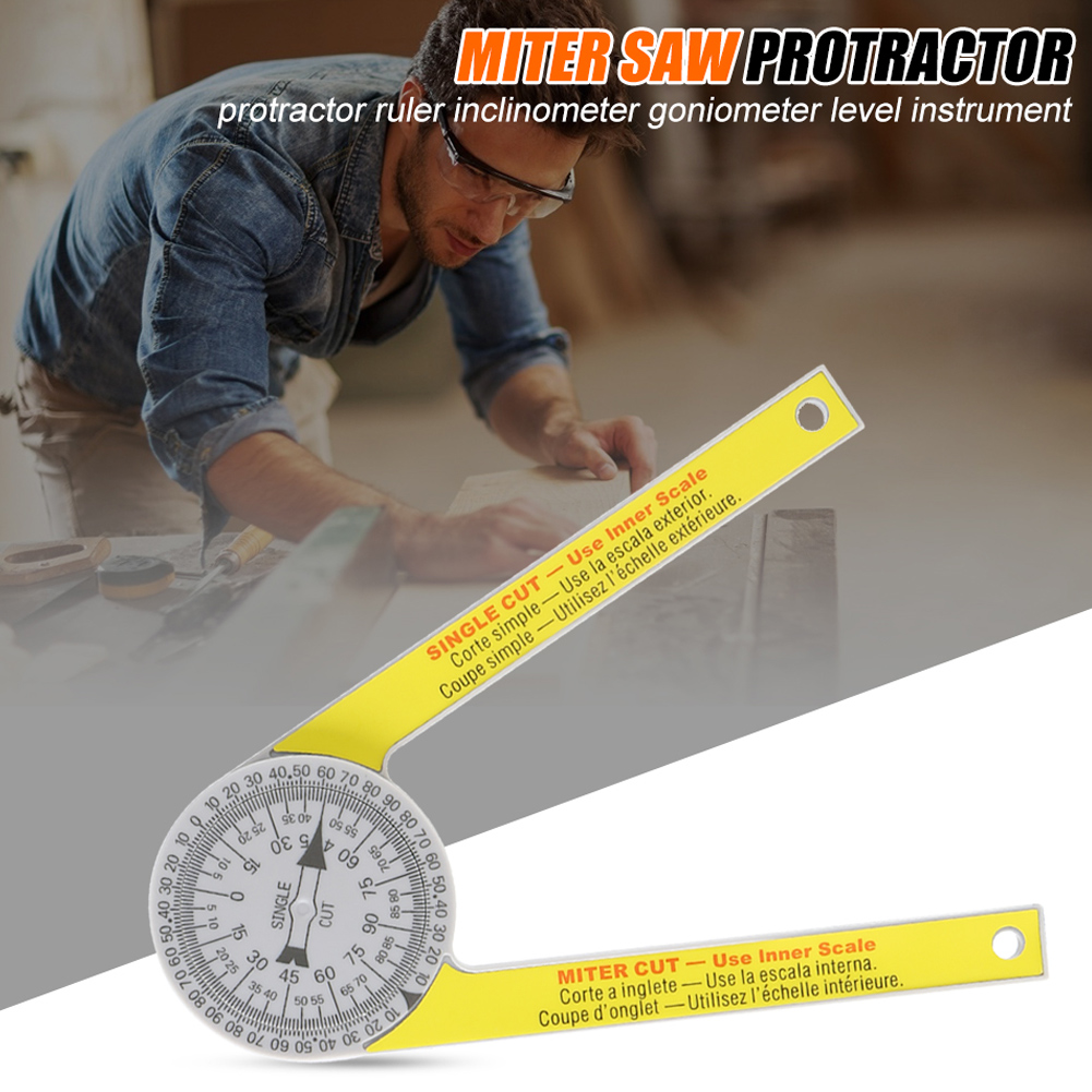 Newly Miter Saw Protractor Engraved Dial Scale Angle Strong Portable Tool For Outdoor TE889
