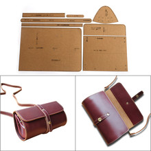 1 ensemble bricolage Kraft papier modèle mode haut de gamme épaule sac de messager cylindre sac en cuir artisanat modèle bricolage pochoir couture Patte