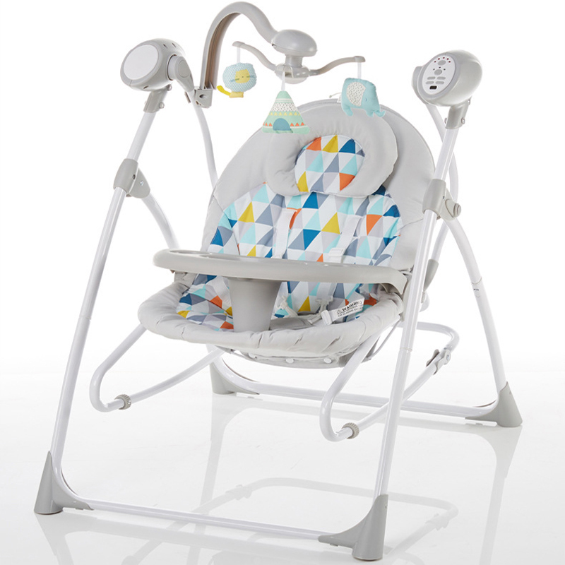 H0a63db67daff48078e705907a1e3ac5a2 Electric baby rocking chair with baby comforter baby cradle sleeping recliner child shaker dinner plate multifunctional