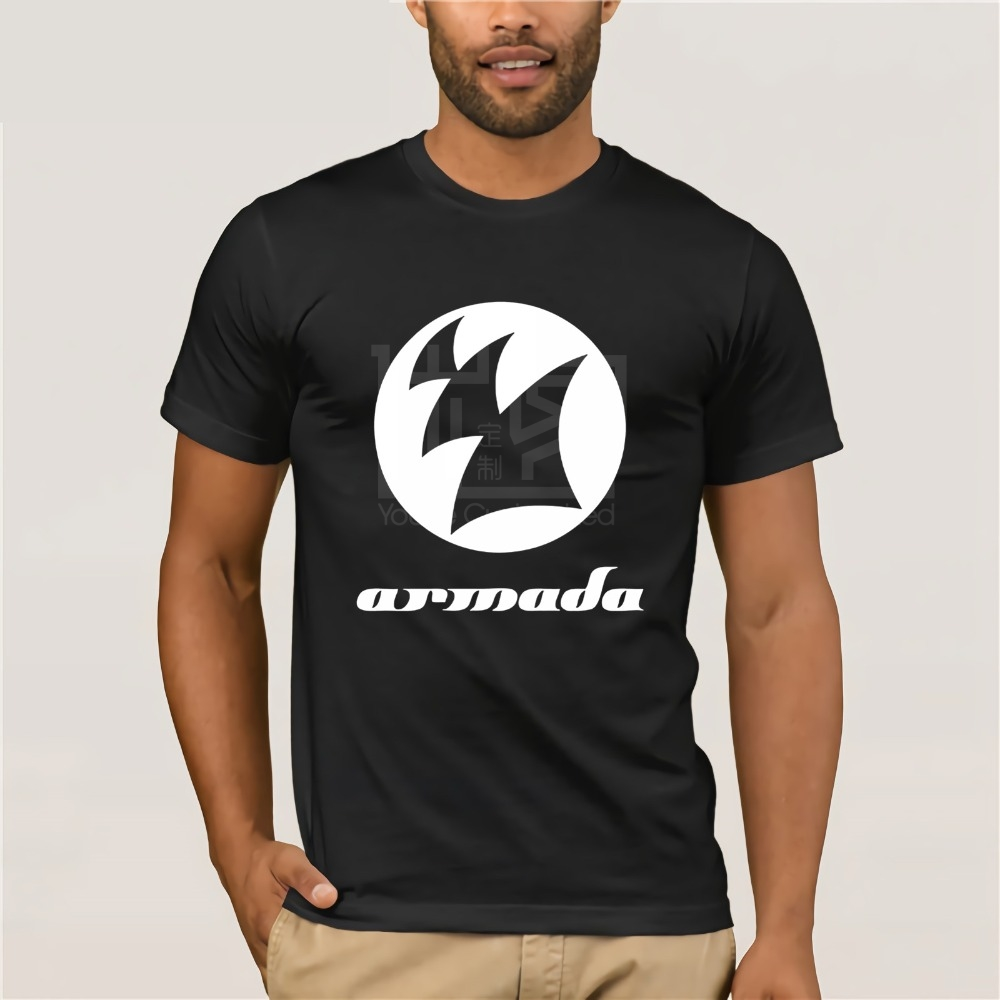 New Fashion Style Design T Shirt New Armada Dj Armin Van Buuren Logo Men 39 s Black T Shirt Size S 3XL in T Shirts from Men 39 s Clothing