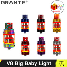 100% Original Grante V8 Big Baby Light Edition Atomizer With 5ml Top Filling V8 Big Baby Tank For Mag Alien X-Priv Vape E Cigs new arrival smok tfv8 x baby beast tank 4ml standard version with v8 baby x q2 v8 baby x m2 coil for stick v8 t priv mod