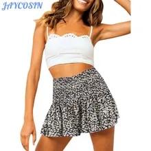 Female Shorts High-Waist Fashion Women Elastic Waist-Ruffle JAYCOSIN Print Loose