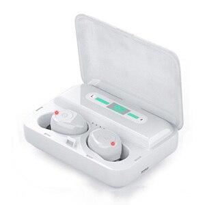 Image 5 - 新しい F9 5 Bluetooth 5.0 TWS イヤホンデジタルディスプレイヘッドセットタッチボタン LED ワイヤレスイヤホン真フォンステレオ