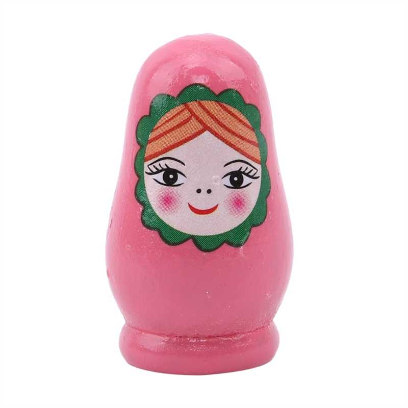 Kiseki Wood Paint Girls Wooden Russian Nesting Dolls Set Novelty Toys Home Decoration Ornament Gifts Funny Games