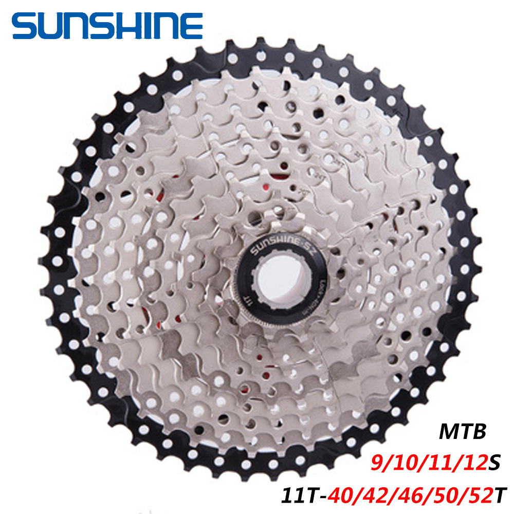 SUNSHINE MTB <font><b>Cassette</b></font> Flywheel 9/10/<font><b>11</b></font>/12 Speed 11T-<font><b>40</b></font>/42/46/50/52T Steel Bicycle Flywheel Mountain Bike New image