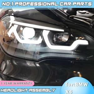 Image 4 - Auto Accessoires Voor Bmw X5 E70 2007 2013 Koplamp Voor Bmw X5 Hoofd Lamp Auto Led Drl Dubbele Beam h7 Hid Xenon Bi Xenon Lens