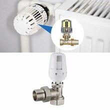 Латунный термостатический клапан радиатора прямого типа DN15 автоматический клапан управления подогревом пола