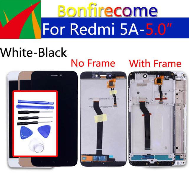 """5.0 """"Originele Voor Xiaomi Redmi 5A Touch Screen Digitizer LCD Frame Assembly Vervanging Voor Redmi 5a LCD Display 1280*720"""