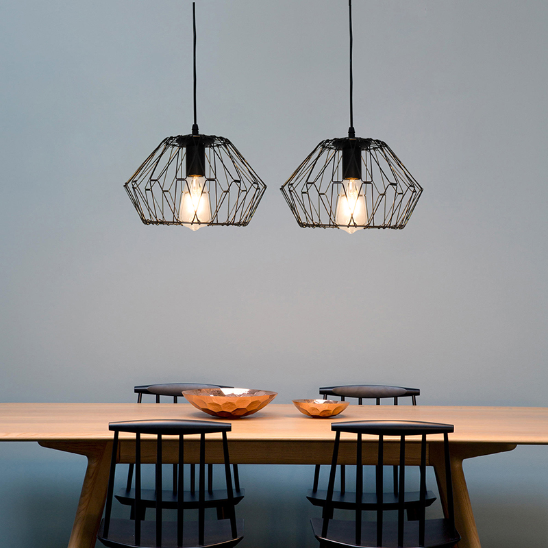 DIY Changeable Pendant Light Restaurant  Minimalist Bar Table Industrial Lamps Creative Bedroom Bedside Small Pendant Light