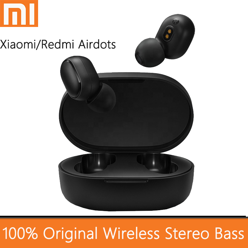 TWS Bluetooth 5.0 Earphone Stereo Wireless Noise Cancellation With Mic Handsfree Earbuds AI Control For Xiaomi Redmi Airdots